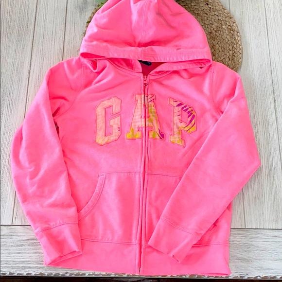 GAP Other - Gap kids bright pink zip up hoodie size 13 girls